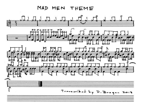 Mad Men Drum Transcription